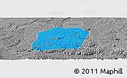 Political Panoramic Map of Naxi, desaturated