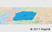 Political Panoramic Map of Naxi, lighten