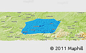 Political Panoramic Map of Naxi, physical outside