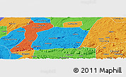 Political Panoramic Map of Naxi