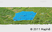 Political Panoramic Map of Naxi, satellite outside