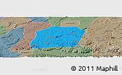 Political Panoramic Map of Naxi, semi-desaturated