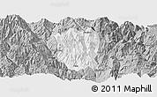 Gray Panoramic Map of Ningnan