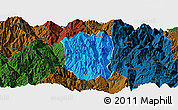 Political Panoramic Map of Ningnan, darken