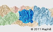 Political Panoramic Map of Ningnan, lighten