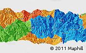 Political Panoramic Map of Ningnan