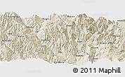 Shaded Relief Panoramic Map of Ningnan
