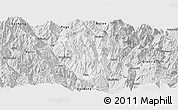 Silver Style Panoramic Map of Ningnan