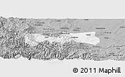 Gray Panoramic Map of Pingshan
