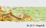 Physical Panoramic Map of Pingshan