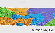 Political Panoramic Map of Pingshan