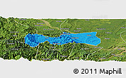 Political Panoramic Map of Pingshan, satellite outside