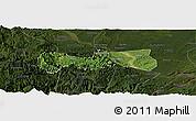 Satellite Panoramic Map of Pingshan, darken
