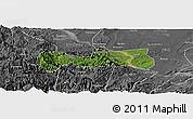 Satellite Panoramic Map of Pingshan, desaturated