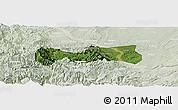 Satellite Panoramic Map of Pingshan, lighten