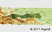 Satellite Panoramic Map of Pingshan, physical outside