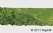 Satellite Panoramic Map of Pingshan