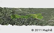 Satellite Panoramic Map of Pingshan, semi-desaturated