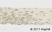 Shaded Relief Panoramic Map of Pingshan