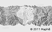 Gray Panoramic Map of Puge