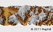 Physical Panoramic Map of Puge