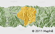 Savanna Style Panoramic Map of Puge