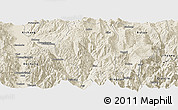 Shaded Relief Panoramic Map of Puge