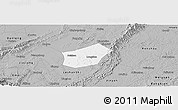 Gray Panoramic Map of Qingshen