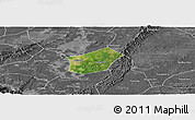 Satellite Panoramic Map of Qingshen, desaturated