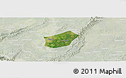 Satellite Panoramic Map of Qingshen, lighten