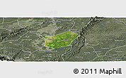 Satellite Panoramic Map of Qingshen, semi-desaturated