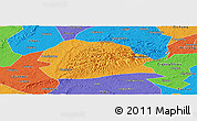Political Panoramic Map of Rong Xian