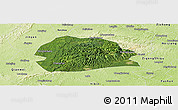 Satellite Panoramic Map of Rong Xian, physical outside