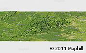 Satellite Panoramic Map of Rong Xian