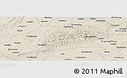 Shaded Relief Panoramic Map of Rong Xian