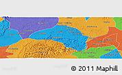 Political Panoramic Map of Weiyuan