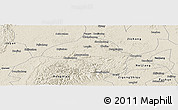 Shaded Relief Panoramic Map of Weiyuan
