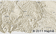 Shaded Relief Panoramic Map of Xiangcheng