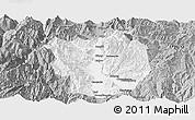 Gray Panoramic Map of Xichang
