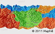 Political Panoramic Map of Xichang