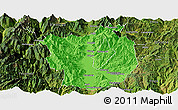Political Panoramic Map of Xichang, satellite outside
