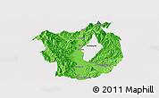 Political Panoramic Map of Xichang, single color outside