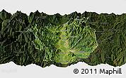 Satellite Panoramic Map of Xichang, darken