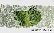 Satellite Panoramic Map of Xichang, lighten