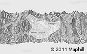 Gray Panoramic Map of Xide