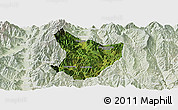 Satellite Panoramic Map of Xide, lighten
