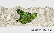 Satellite Panoramic Map of Xide, shaded relief outside