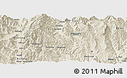 Shaded Relief Panoramic Map of Xide
