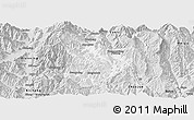 Silver Style Panoramic Map of Xide