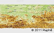 Physical Panoramic Map of Xuyong